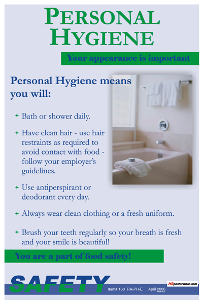 personal hygiene in the workplace Personal hygiene policy guideline in many cases, individuals are unaware they have a body odour problem that is affecting colleagues at work body odour is caused by bacteria on the skin and usually has two root causes, medical or personal hygiene.
